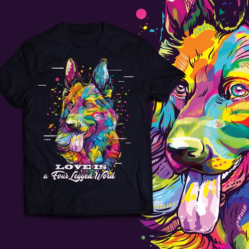 Colorful Dog T-shirt