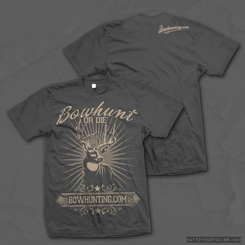 Vintage style T-shirt for Hunting website