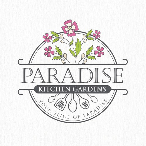 Creative logo for Paradise Kitchen Garden