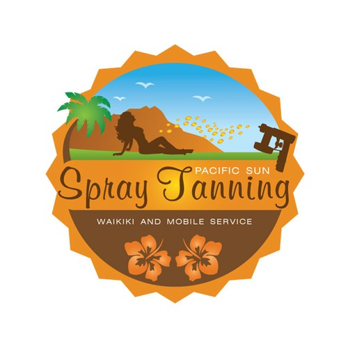 Create the next logo for Pacific Sun Spray Tanning