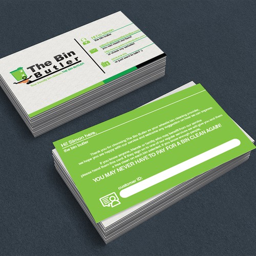 Referral cards for the bin butler