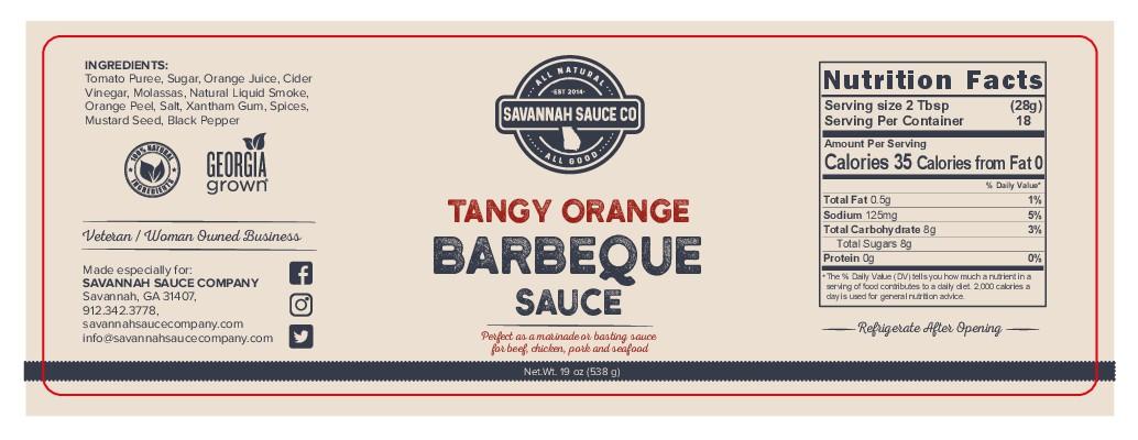 Savannah Sauce Company label design.