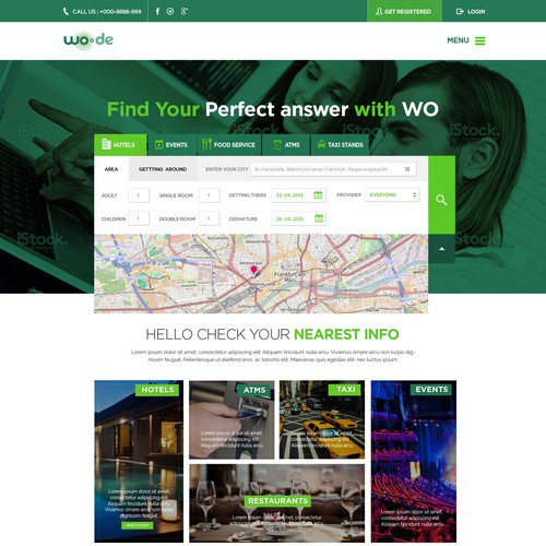 Travel Webpage Design