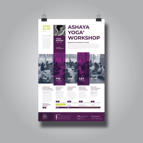 Poster Announcing A Yoga Workshop