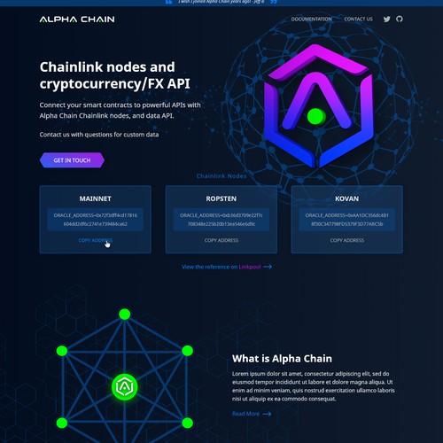 Powerful and fun web design for a bleeding edge blockchain company