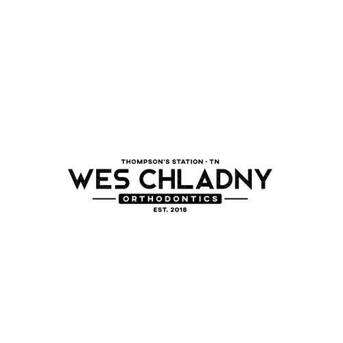 Vintage logo concept for Wes Chladny Orthodontics