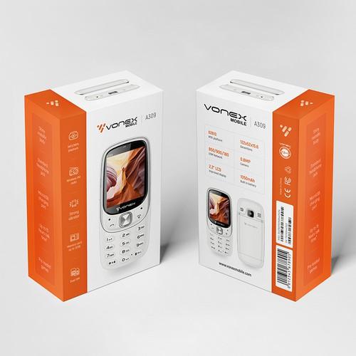 Vonex mobile phone Packaging Design