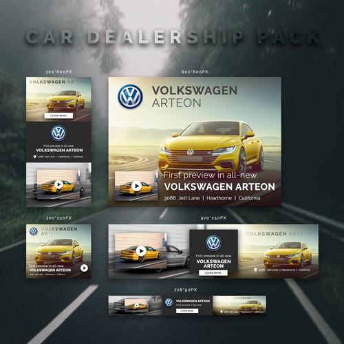 Set of banner Ads