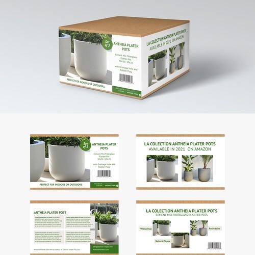 Planter Pots Box Packaging
