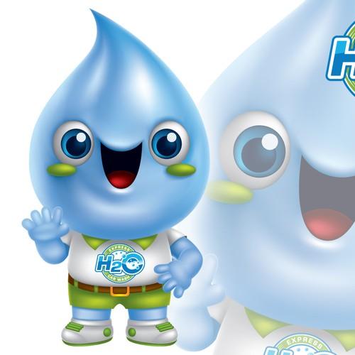 H2O mascot design