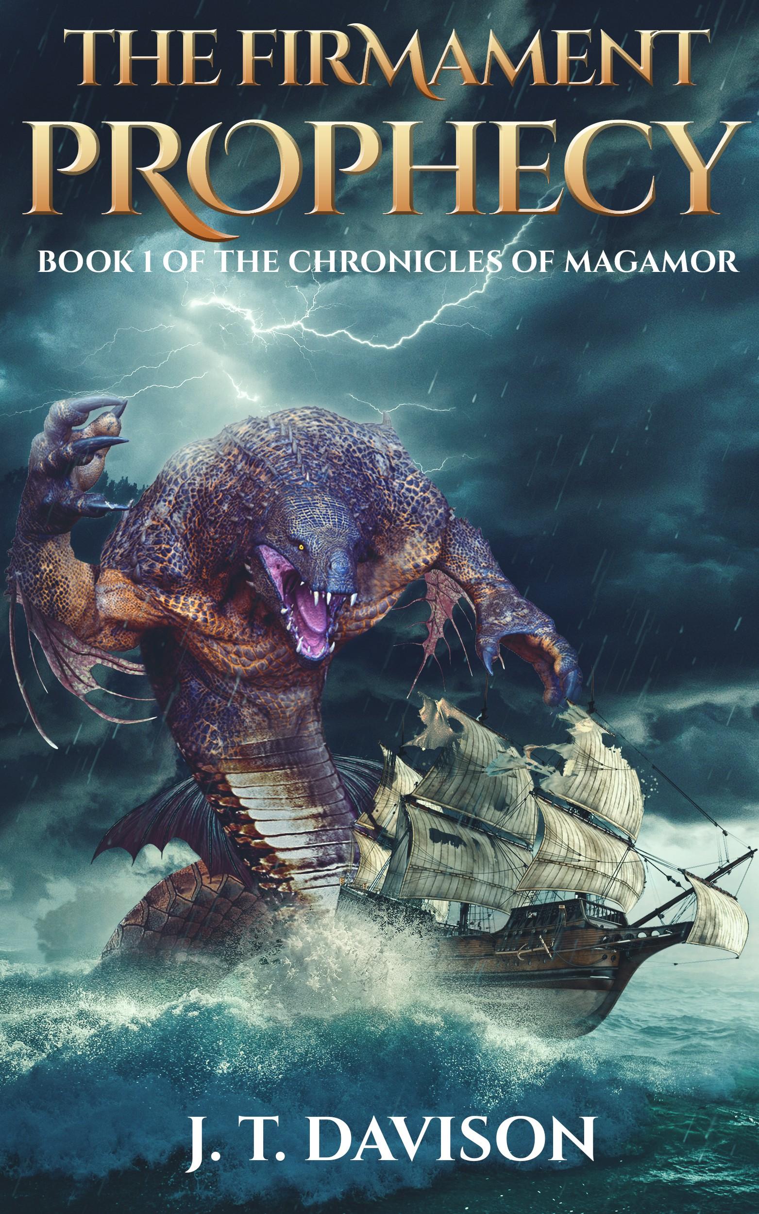 Design Sea Serpent for a Fantasy Book Cover