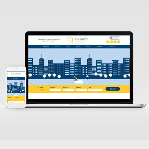 Boutique stylish website for property company