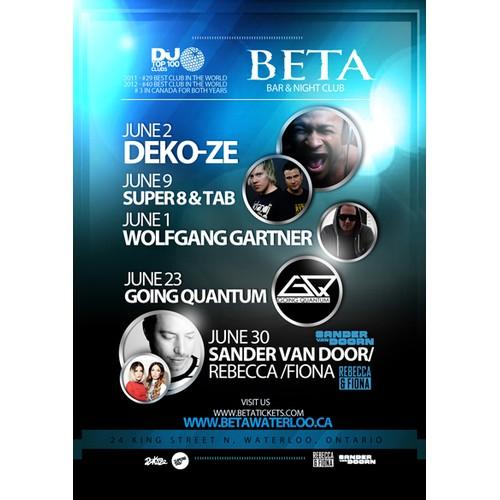 Create the next banner ad for BETA Nightclub