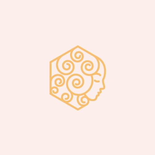Modern line art logo concept done for a honey brand