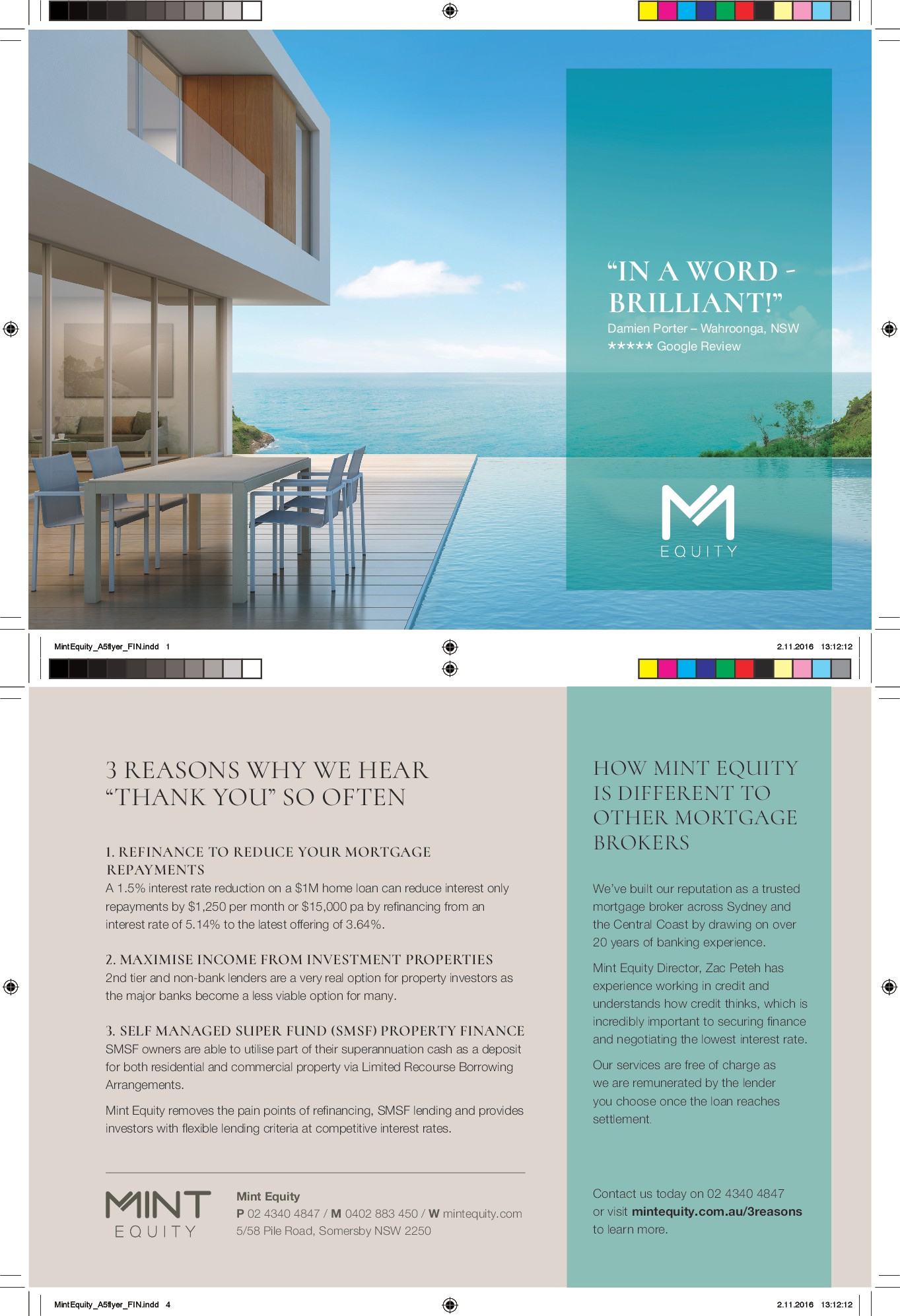 Design a stylish, lux, modern A5 flyer for our high end clients