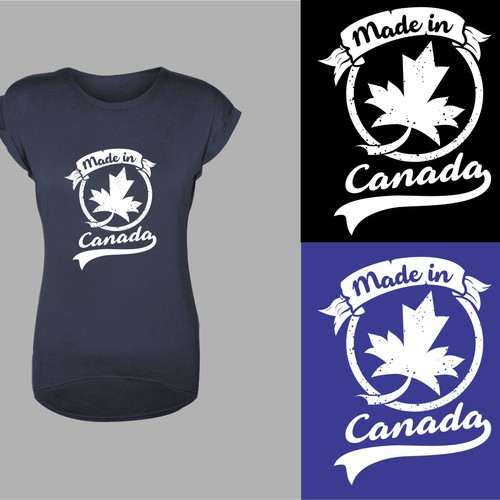 "Bold and timeless for ""Made in Canada"" T - shirt design"