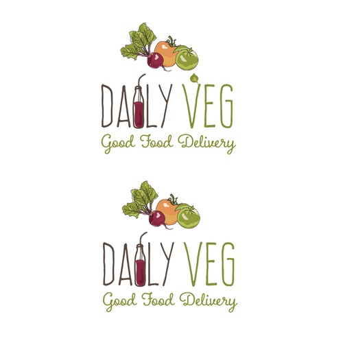Organic logo for fresh pressed vegetable juice products