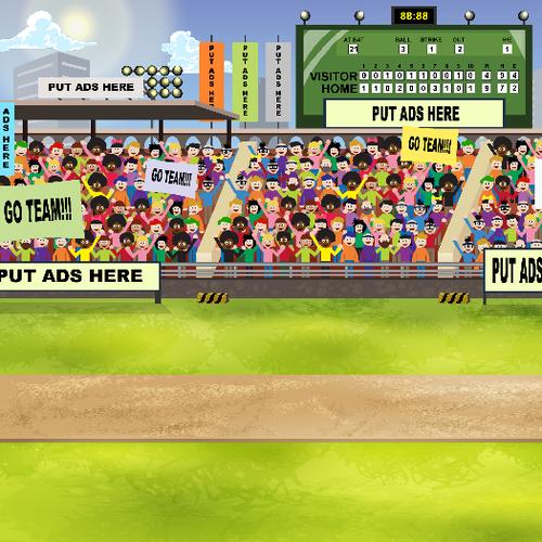Baseball mobile game background