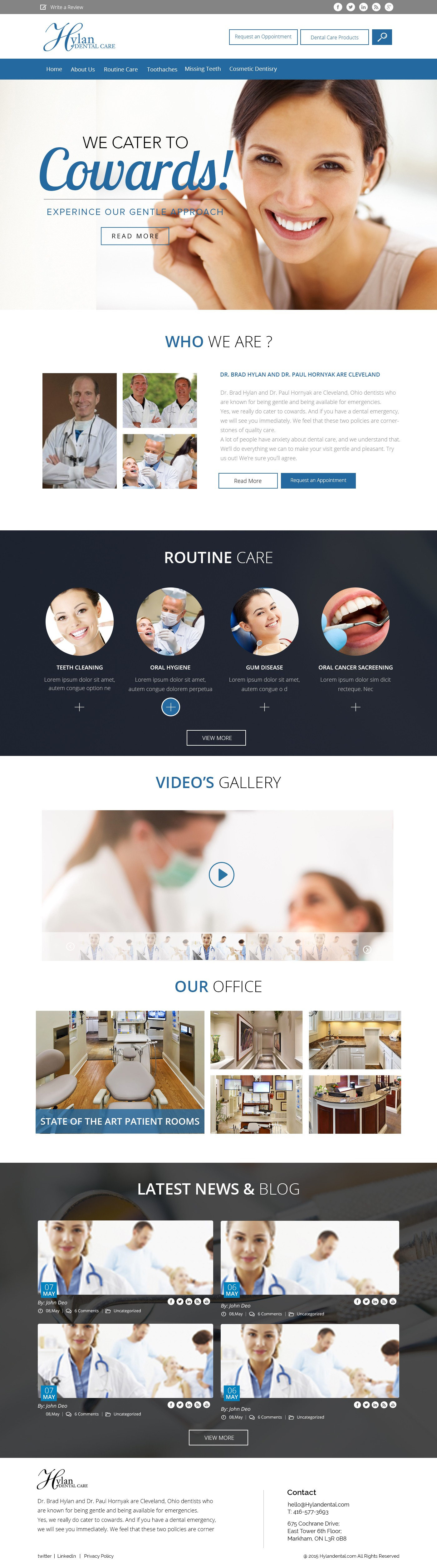 Create a modern, warm, and intuitive website for an outstanding dental practice