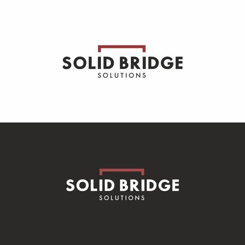 Logo concept for Solid Bridge solutions.