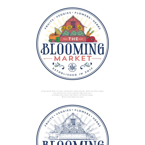 Logo Design for Blooming Market