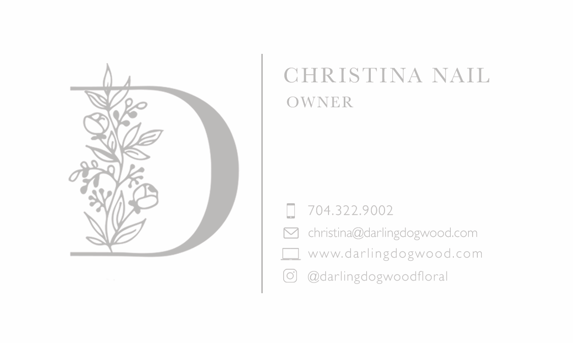 Dogwood business card