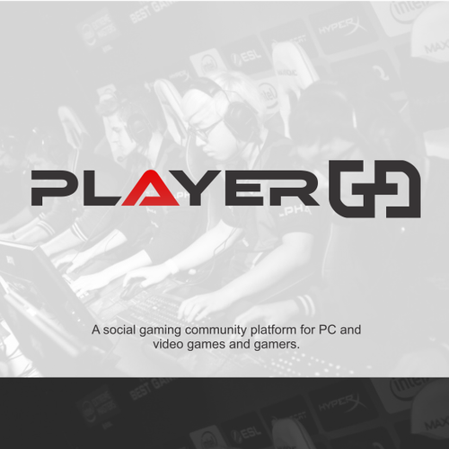 Modern and Simple gaming logo
