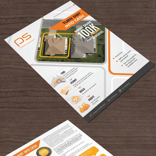 brochure design for Property Subivision