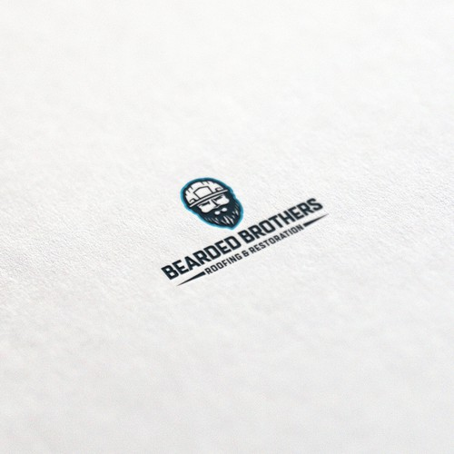 bearded brothers logo concept