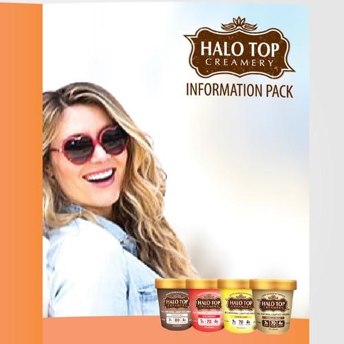 Brochure for Halo Top Ice Cream