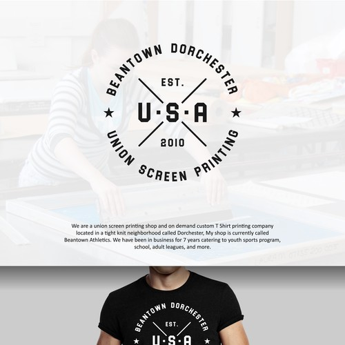 Logo for Union Screen Printing Shop Beantown USA