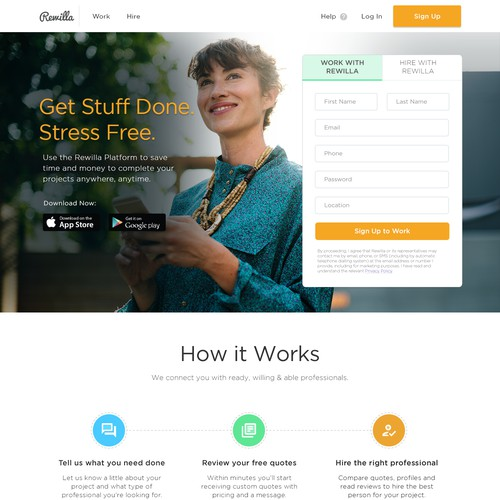 Rewilla - Landing page for Australian Recruitment Company