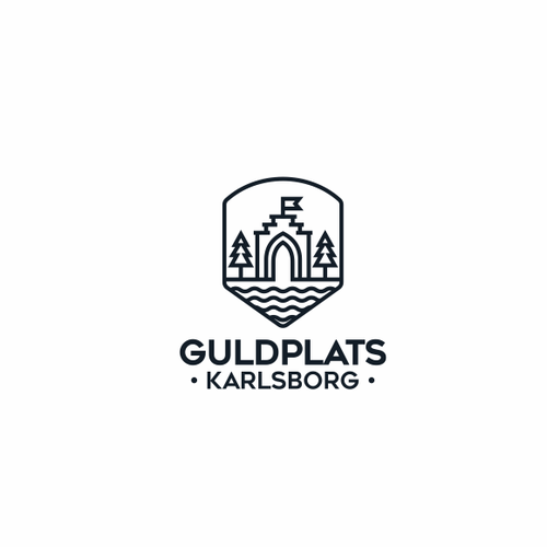Logo design for Guldplats Karlsborg