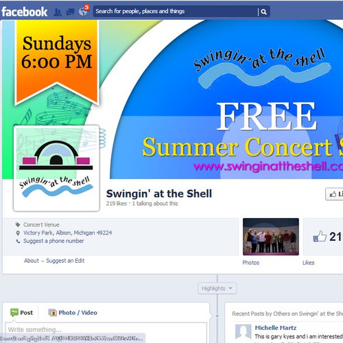Outdoor Concert Series Facebook Coverphoto