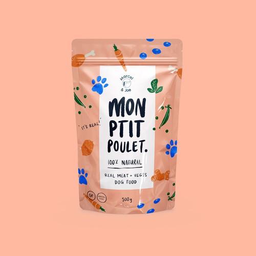100% Natural Dog Food Label