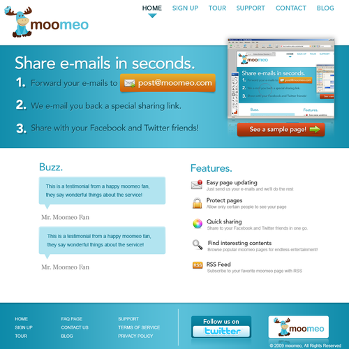 Website Design for Moomeo.com