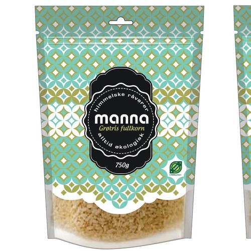 manna - design a label for a wide range of organic products