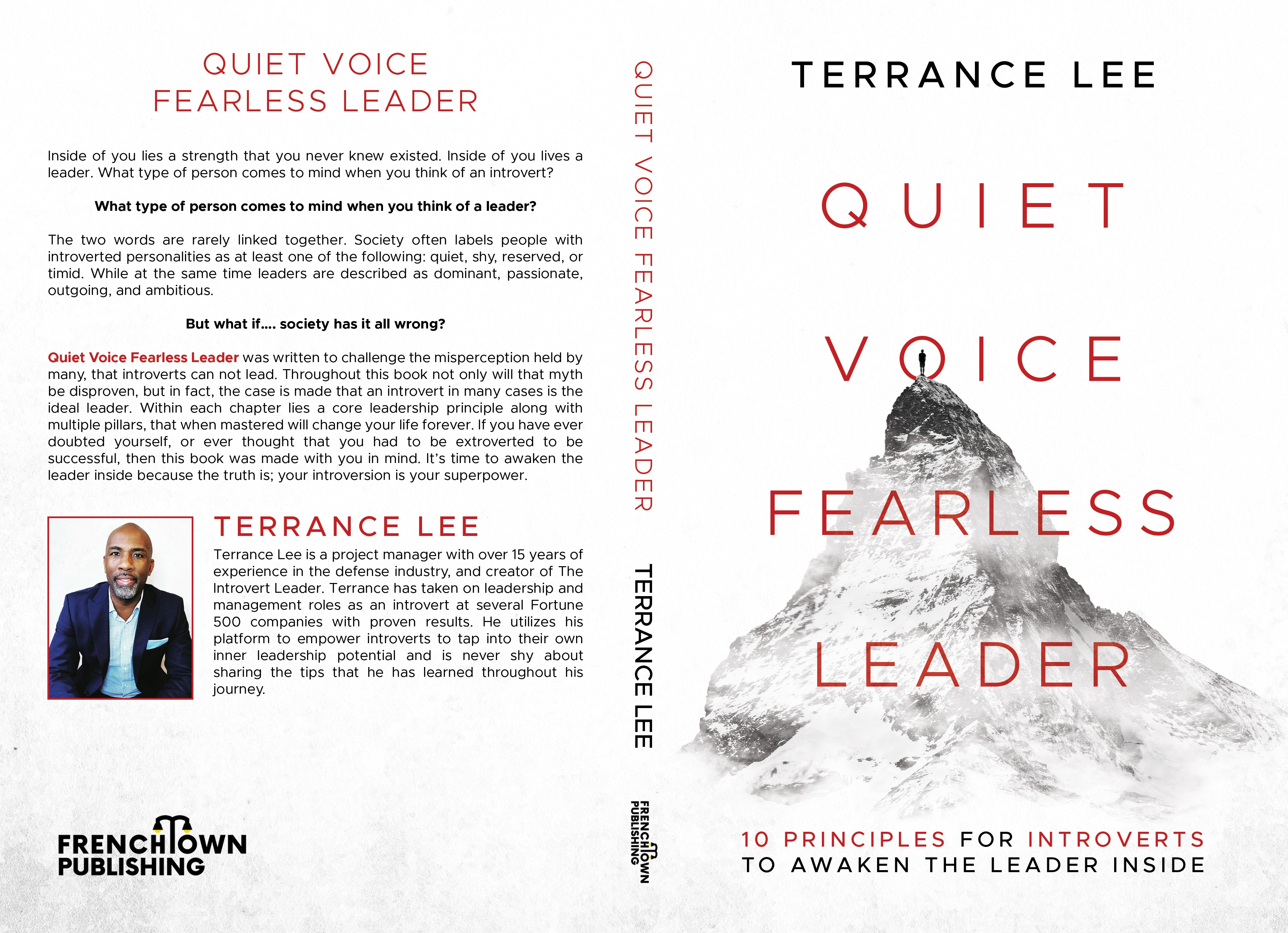 """Book Cover Design For """"Quiet Voice Fearless Leader"""", a book that will change the lives of introverts"""