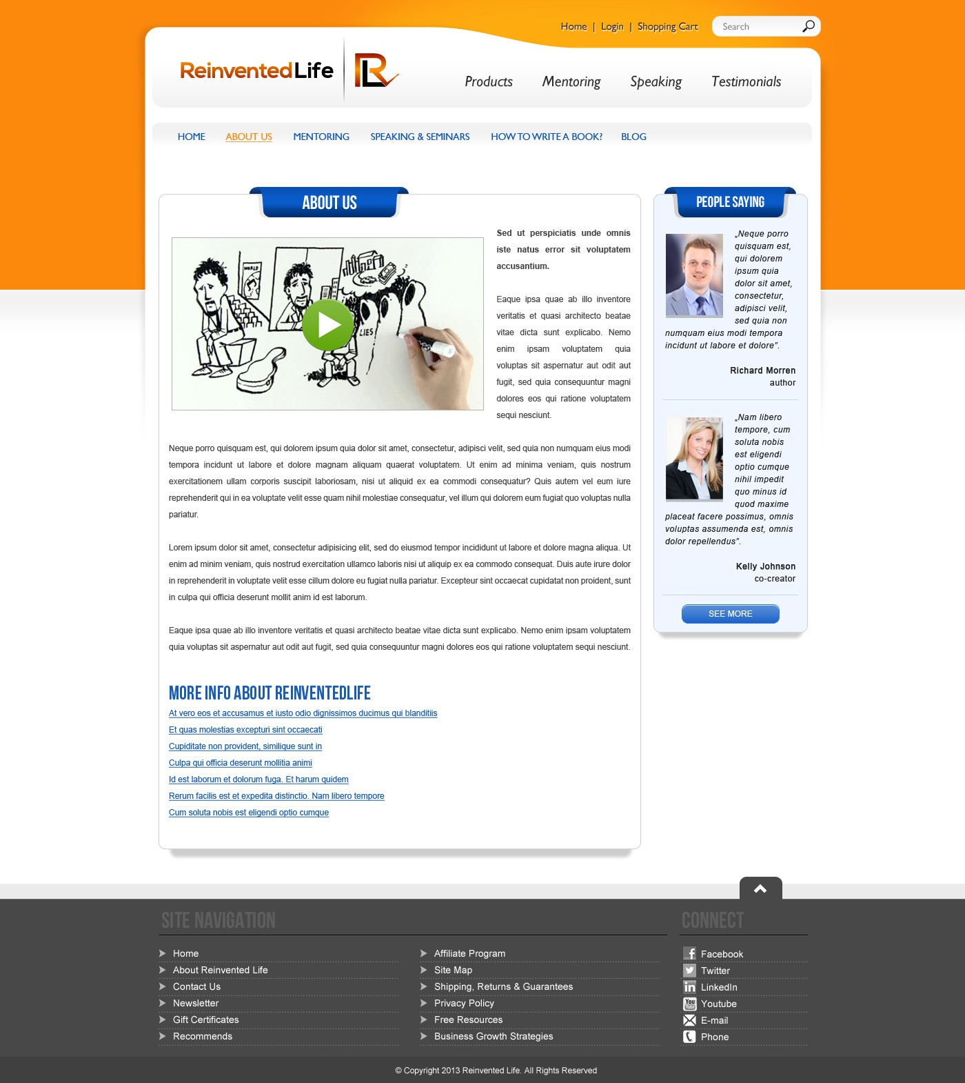 Help Reinvented Life with a new website design