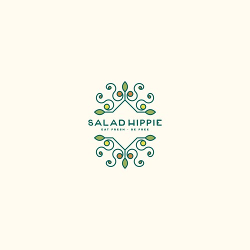 Fun logo concept for Salad Hippie