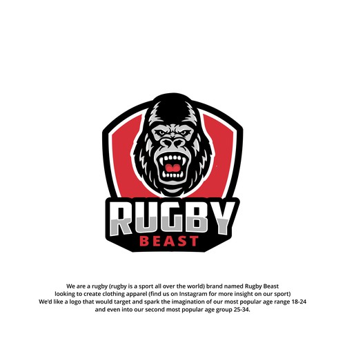 logo design concept for Rugby Beast