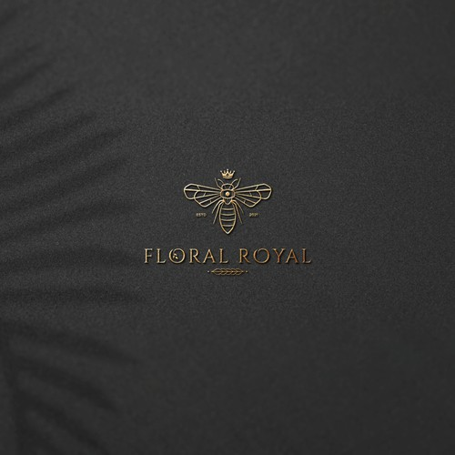 A modern luxury logo for Floral Royal