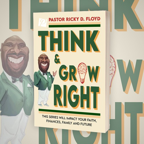 Think & Grow Right Book Cover Design