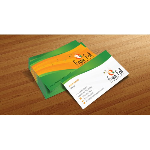 Help free fall agency with a new stationery