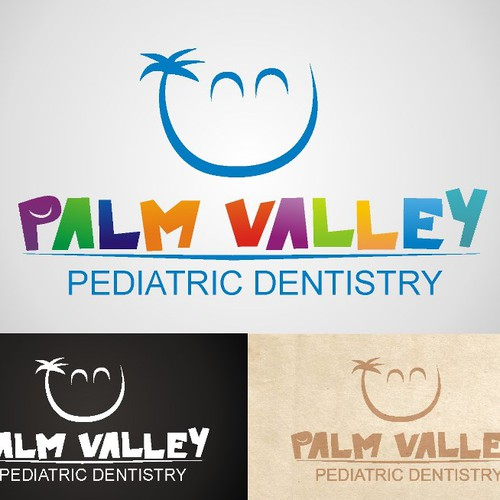 Create the next logo for Palm Valley Pediatric Dentistry
