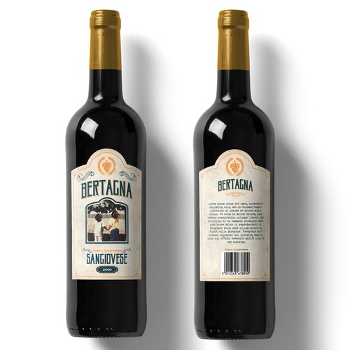 Bertagna Wine Label