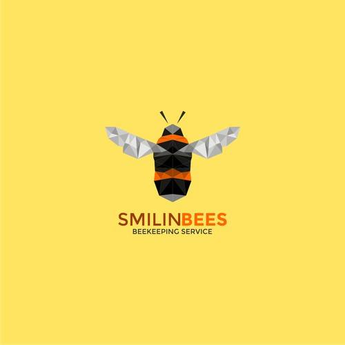 logo concept for smilin bee