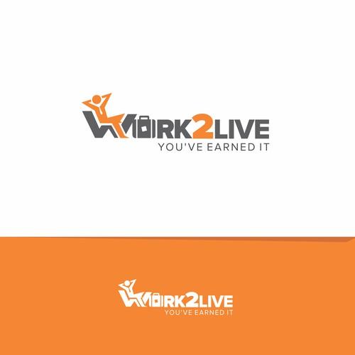Work 2 Live logo concept.