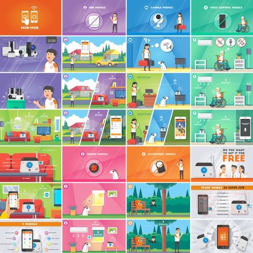 Illustration board for a Kickstarter campaign