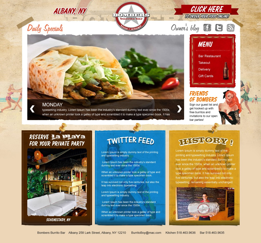 Bombers Burrito Bar needs a new website design (No New Entries Needed)